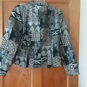 Womans size small silver/gray / black blazer